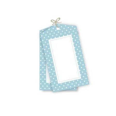 Blue Polka Dot Tags