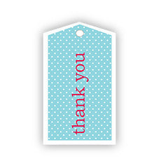 Blue Thank You Tags