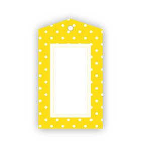 Yellow Polka Dot Tags