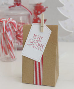 White Merry Christmas Gift Tags