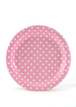 Light Pink Polka Dot Plates
