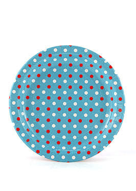Multi Blue Polka Dot Plates