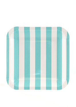 Candy Stripe Blue Square Plates  sc 1 st  Poppyseed & Candy Stripe Blue Square Plates | Blue u2013 Poppyseed