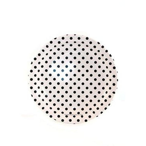 Black Polka Dot Plates