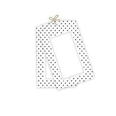 Black Polka Dot Tags