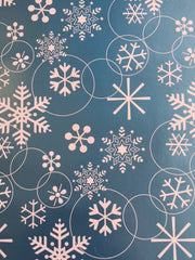 Blue Snowflake Table Runner