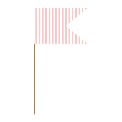 Light Pink Stripe Paper Food Picks