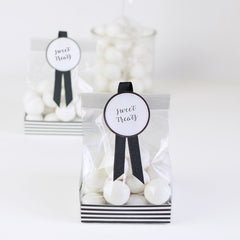 Treat Bags Black Tie