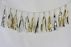 Toot Sweet Gold & Silver Party Tassels