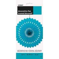 Teal Decorative Fan