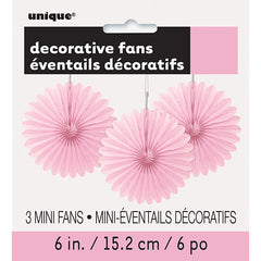 Light Pink Mini Decorative Fans