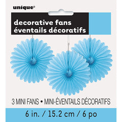Light Blue Mini Decorative Fans