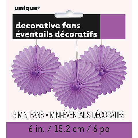 Purple Mini Decorative Fans