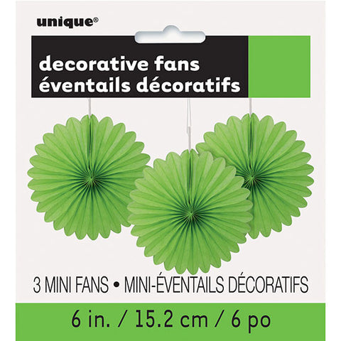 Lime Green Mini Decorative Fans