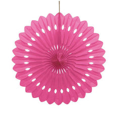 Hot Pink Decorative Fan