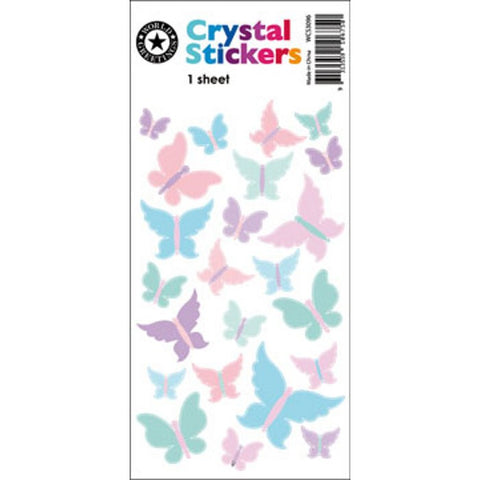 Crystal Butterfly Stickers
