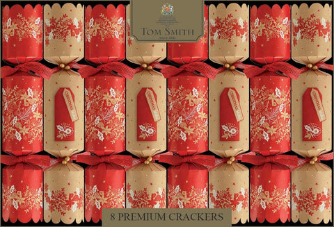 Christmas Crackers Red & Kraft