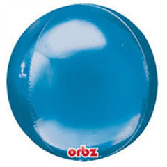 "16"" Blue Orb Foil Balloon"