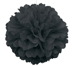 Black Tissue Puff Ball