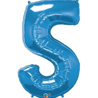 Blue 5 Foil Balloon
