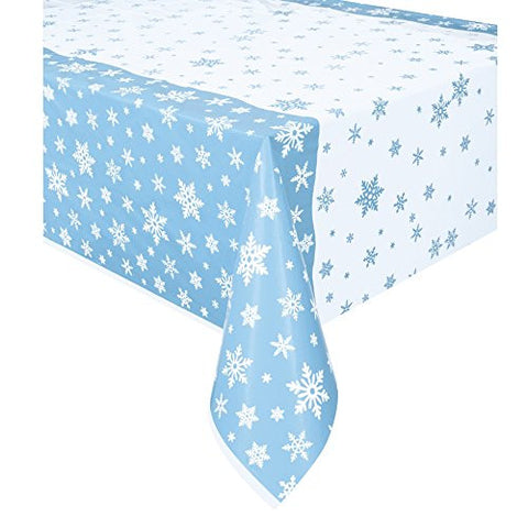 Blue Snowflake Table Cover