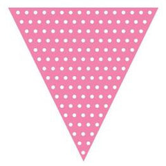 Candy Pink Polka Dot Bunting Flags