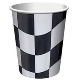 Black & White Checkered Cups