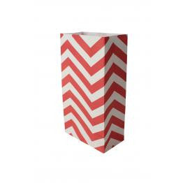 Red Chevron Paper Party Bags RG