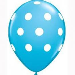 Light Blue Polka Dot Balloons