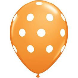Orange Polka Dot Balloons