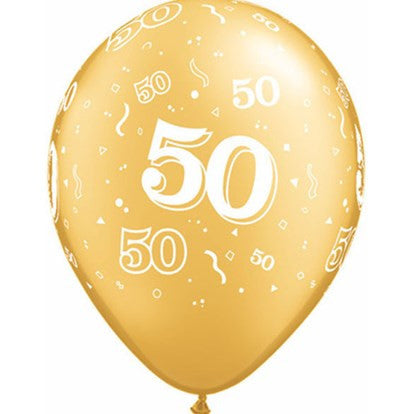 50th Balloons Gold