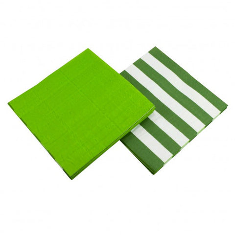 Green Stripe Napkins