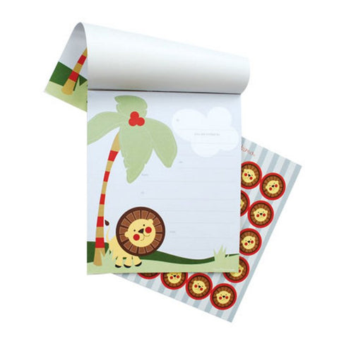 Jungle Safari Invitations Pad