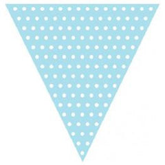 Light Blue Polka Dot Bunting Flags