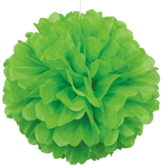 Lime Green Tissue Puff Ball