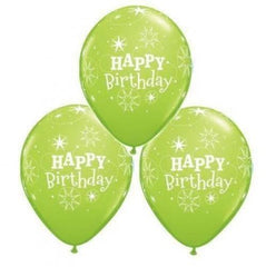 Happy Birthday Lime Balloons