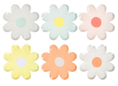 Assorted Daisy Plates