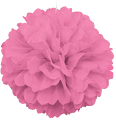 Hot Pink Tissue Puff Ball