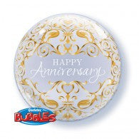 Anniversary Gold Deco Bubble Balloon