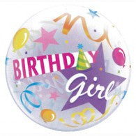Birthday Girl Deco Bubble Balloon