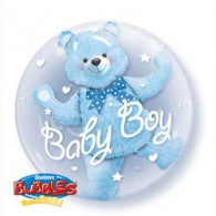 Baby Bear Blue Deco Bubble Balloon