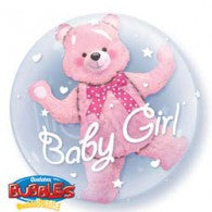 Baby Bear Pink Deco Bubble Balloon