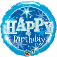 Blue Star Happy Birthday Foil Balloon