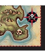 Pirate's Map Small Napkins