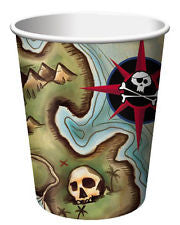 Pirate's Map Cups