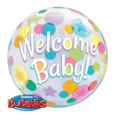 Welcome Baby Deco Bubble Balloon