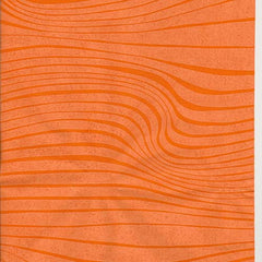Orange Waves Table Runner