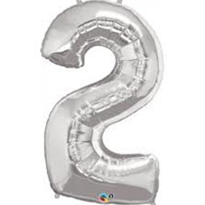 Silver 2 Qualtex Foil Balloon