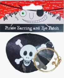 Pirate Earring & Eye Patch