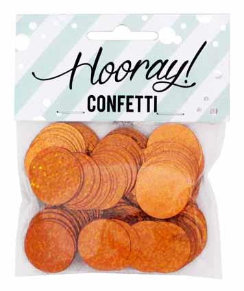 Circle Copper Table Confetti